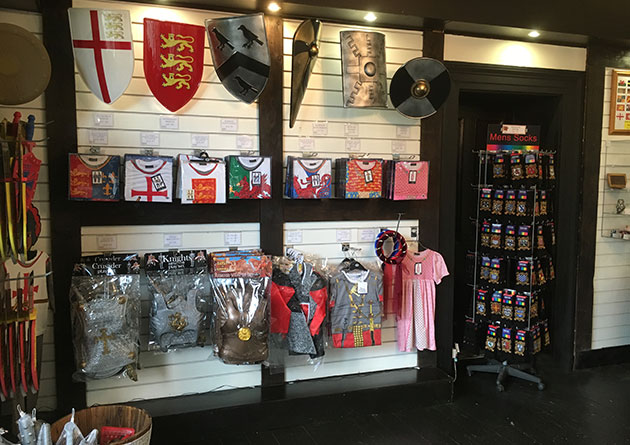 Historical kids toys in the Knight Shop Conwy