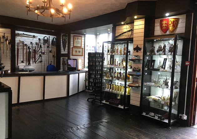 Mead, medieval figurines and weaponry at The Knight Shop